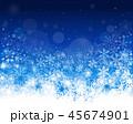 冬 雪 雪の結晶のイラスト 45674901