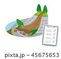 土砂崩れ 崖崩れ 点検のイラスト 45675653