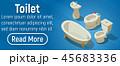 トイレ 手洗い コンセプトのイラスト 45683336