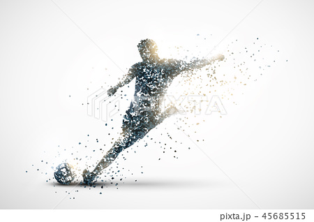 football abstract silhouette 1 45685515
