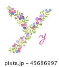 アルファベット 文字 Yのイラスト 45686997