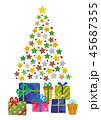 クリスマスツリー クリスマス プレゼントのイラスト 45687355