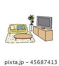 部屋 ベクター インテリアのイラスト 45687413