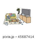 部屋 ベクター インテリアのイラスト 45687414