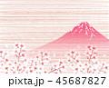 富士山 桜 山のイラスト 45687827