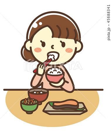 お母さん 朝食(和食) 45688341