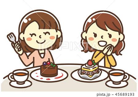 女子会 ケーキ 45689193