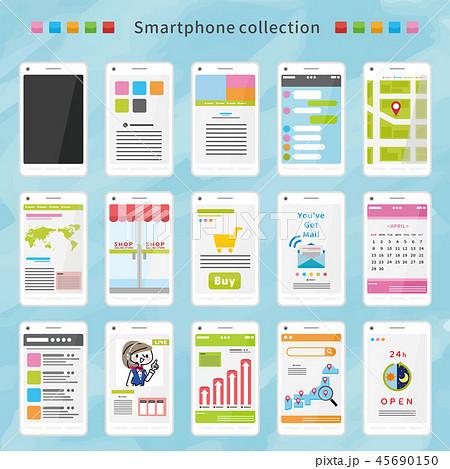 スマートフォン アプリ セット 45690150
