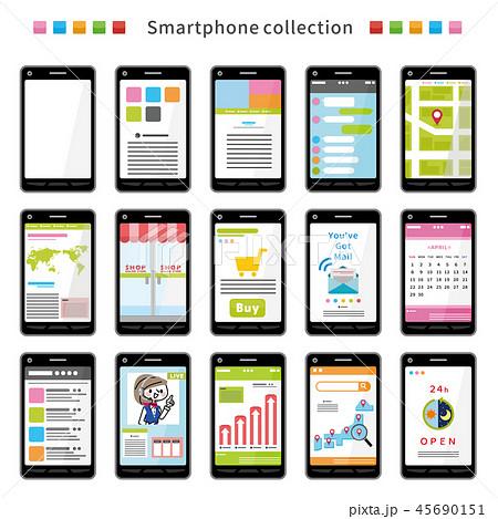 スマートフォン アプリ セット 45690151