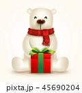 クリスマス 熊 動物のイラスト 45690204