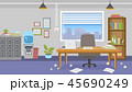 家具 インテリア オフィスのイラスト 45690249