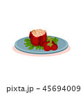 食 料理 食べ物のイラスト 45694009