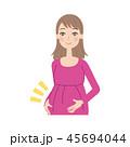 妊婦 女性 妊娠のイラスト 45694044