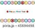 ベクター 正月 年賀状のイラスト 45694498