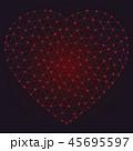 三角 ハート ハートマークのイラスト 45695597