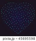 三角 ハート ハートマークのイラスト 45695598