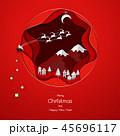抽象的 クリスマス 田舎のイラスト 45696117