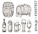ビール お酒 アルコールのイラスト 45697857