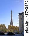 パリ、エッフェル塔が見える風景 45702479