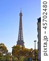 パリ、エッフェル塔が見える風景 45702480