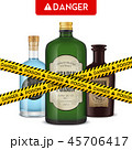 ビン 危険 危険性のイラスト 45706417