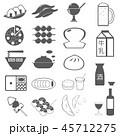 食べ物 飲み物 アイコンのイラスト 45712275