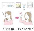 女性 PMS 健康のイラスト 45712767
