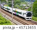 電車 特急かいじ 特急列車の写真 45713655