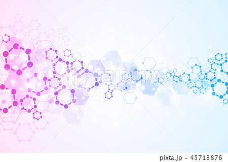Abstract molecules medical background. 45713876