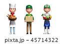 職業 仕事 セットのイラスト 45714322
