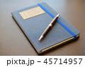 デニム柄のノートとモルトボールペン 45714957