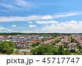 青空 夏 住宅街の写真 45717747