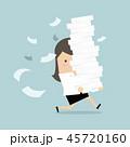 キャリアウーマン ビジネスウーマン 女性実業家のイラスト 45720160