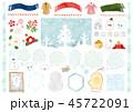 冬 水彩 手描きのイラスト 45722091