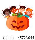 ハロウィン キッズ 子供のイラスト 45723644
