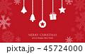クリスマス 赤 飾りのイラスト 45724000