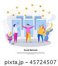ソーシャル ネットワーク 通信のイラスト 45724507
