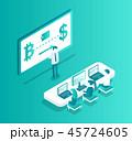 ブロックチェーン サイバー 作戦のイラスト 45724605