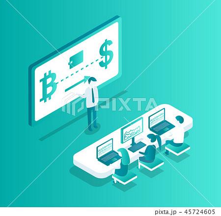 Blockchain Meeting Seminar Vector Illustration 45724605