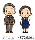 男女 会社員 ベクターのイラスト 45726891