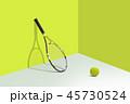 スポーツ テニス 庭球のイラスト 45730524