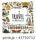 インドネシア アイコン イコンのイラスト 45730712