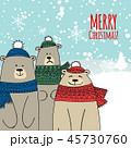 クリスマス カード 葉書のイラスト 45730760