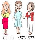 悩み 女性 相談のイラスト 45731577