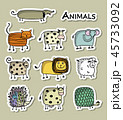 動物 アイコン イコンのイラスト 45733092