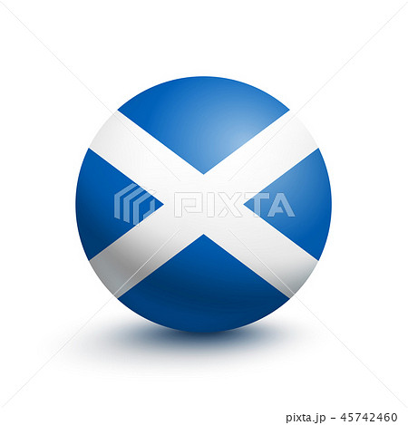 Flag of Scotland in the form of a ball 45742460