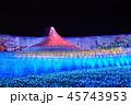イルミネーション 富士山 夜の写真 45743953