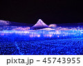 イルミネーション 富士山 夜の写真 45743955