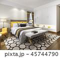 ベッド ベッドルーム 寝室のイラスト 45744790