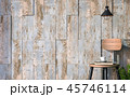 Empty wall with old painted wood plank 3d render 45746114